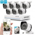 Zmodo 8 CH 720p NVR Simplified PoE Outdoor Indoor Security Camera System 1TB