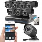 Zmodo 8CH sPoE NVR with 8 cameras 1TB HDD