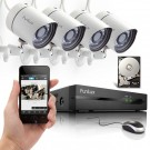 Funlux 4 Channel All-in-One sPoE NVR Security System with 500GB Hard Drive