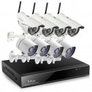 Funlux 8 Channel 720P NVR with 4 Outdoor WiFi & 4 sPoE Network IP Cameras & 1TB HDD