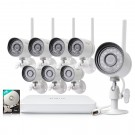 Funlux 8 Channel 720p Wireless NVR System with 8 HD WiFi IP Cameras and 1TB HD