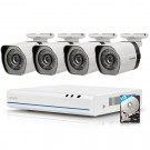 Zmodo 4 CH 4 Camera Outdoor Indoor High Definition NVR Home Video Security Surveillance Camera System 1TB HDD