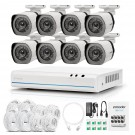 Zmodo 8 CH 720p NVR Simplified PoE Outdoor Indoor Security Camera System  (no HDD)
