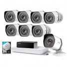 8CH wireless NVR with 1 repeater & 720p 8 sPoE cameras