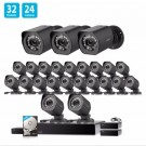 Zmodo 1.0 MP 32 CH Network NVR 24 HD Security Camera System w/ sPoE Repeater 2TB