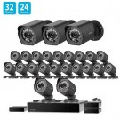 Zmodo 32 CH NVR 24 IP HD Security Camera System w/ sPoE Repeater