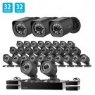 Zmodo 1.0 MP 32 CH Network NVR 32 IP HD Security Camera System w/ sPoE Repeater