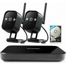 Zmodo Replay 4CH NVR 2*720p HD Outdoor Wireless Secuirty Camera System 500GB HDD