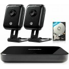 Refurbished Zmodo Replay 4CH NVR 2 Indoor Wireless Camera Home Security System (500GB Hard Drive)