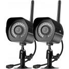 2 Pack  SHO 1080p Wireless Outdoor Bullet IP Camera
