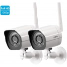 1080p Wireless Outdoor Bullet IP Camera 2 Pack