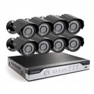 Zmodo 8CH H.264 960H DVR Security System  with 8 700TVL Camera  (Refurbished)
