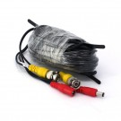 59ft AWG28 Premade Siamese CCTV Video + Power Cable