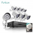 Funlux 8 CH 720p NVR Motion Detection Simplified PoE Outdoor Indoor Security Camera System 1TB Hard Drive(Refurbished )