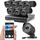 Zmodo 8 CH 720p NVR sPoE Outdoor Indoor Security Camera System