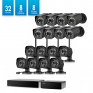32CH 720p sPoE NVR system 8 wired & 8 wireless cameras