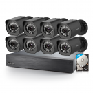 Funlux 16CH NVR with 8 Outdoor Cameras  with 1TB