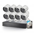Funlux  16 Channel 720p NVR with zmodo 8 Outdoor Bullet  IP Cameras & 1TB HDD