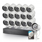Funlux  16 Channel 720p NVR with Funlux16 Outdoor Bullet  IP Cameras & 2TB HDD