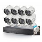Funlux  16 Channel 720p NVR with 8 Outdoor Bullet sPoE Cameras & 1TB HDD