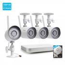 Funlux 8 Channel 720p NVR with 4 Outdoor WiFi Network IP Cameras & 500GB HDD