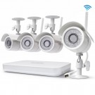 Zmodo 8 Channel 720p Wireless NVR System with 4 HD WiFi IP Cameras