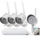 Funlux 4 Channel 720p NVR with 4 Outdoor WiFi Network IP Cameras & 500GB HDD