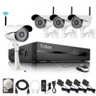 Funlux 4 Channel 720p NVR with 4 Outdoor WiFi Network IP Cameras & 1TB HDD