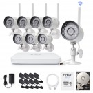 Funlux 8 Channel 720p Wireless NVR System with 8 HD WiFi IP Cameras and 1TB HD (Renewed)